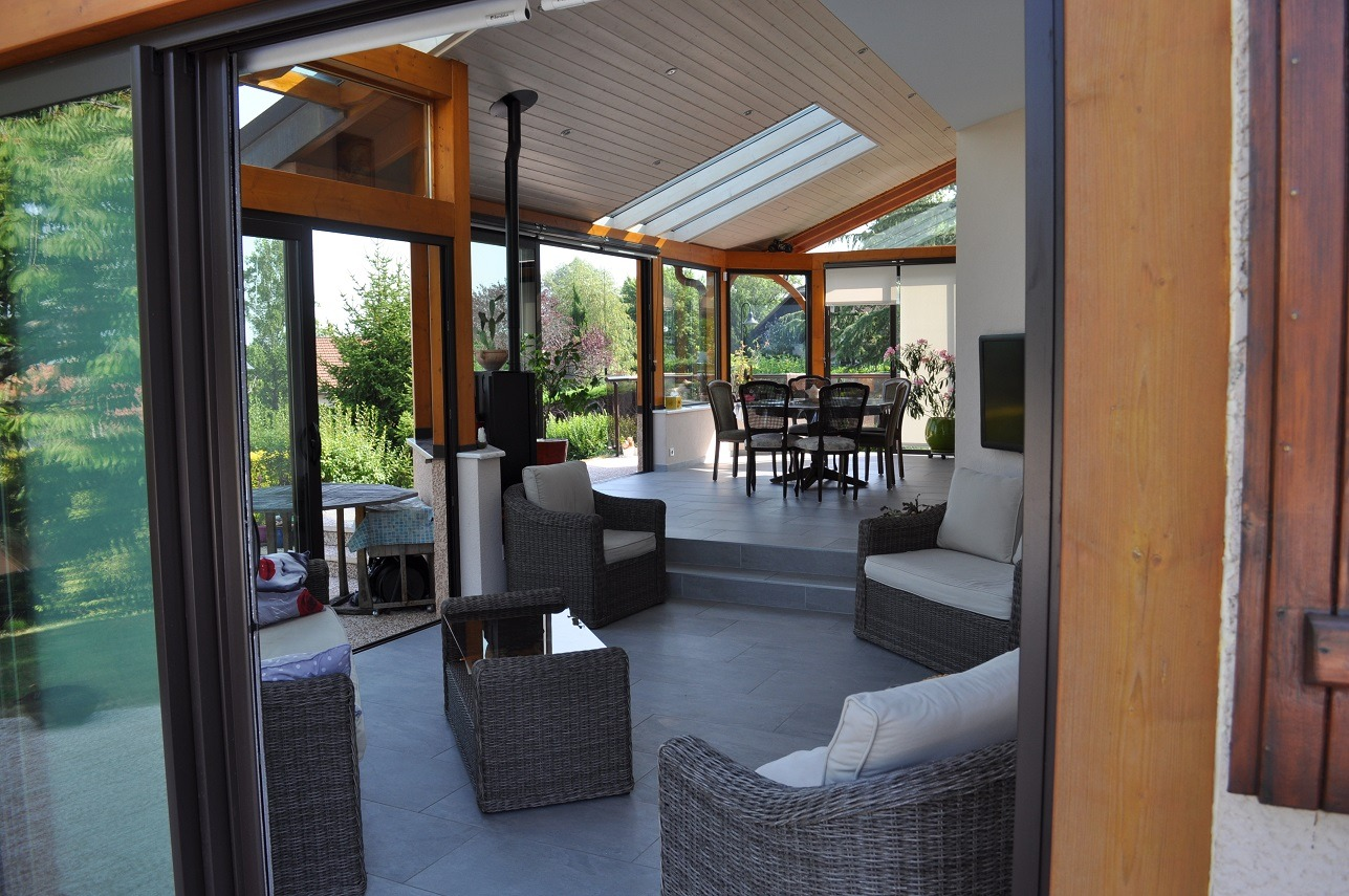 Vie Et Veranda Thoiry veranda bois alu haute savoie | fabricant de verandas sur
